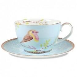 Tasse et soucoupe Pip Studio - Oiseau Bleue