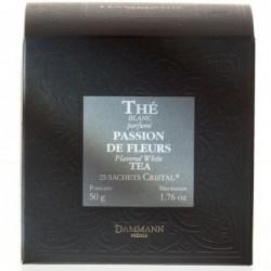 Boîte 25 sachets Cristal Dammann Frères - Passion de Fleurs - Thé blanc