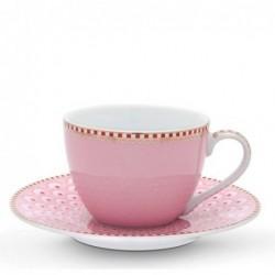 Tasse et soucoupe à expresso - Floral 2 rose - Pip Studio