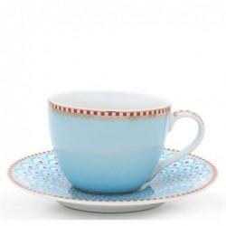 Tasse et soucoupe à expresso - Floral 2 bleu - Pip Studio