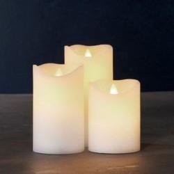 Lot de 3 bougies LED - Sirius - Sara Exclusive - Blanche