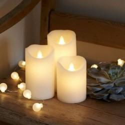 lot de 3 Bougies LED - Sirius - Sara blanche