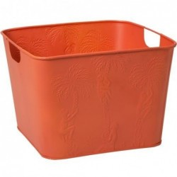 Corbeille carrée en métal - Rice - Orange Singe