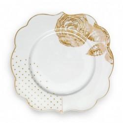 Assiette à dessert Royal White dorée - Pip Studio - 17cm