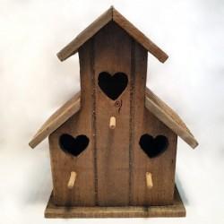 Nichoir à oiseaux - Country casa - Triple cœurs
