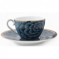 Pip Studio -Tasse Expresso et soucoupe Spring to life - 80 ml - bleu