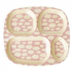 Assiette enfant Rice à compartiments - Cloud pink