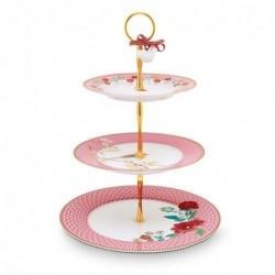 Serviteur 3 étages - Floral 2 rose - Pip Studio