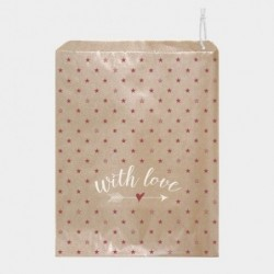 Sac cadeaux en papier Kraft -  East of India - With Love