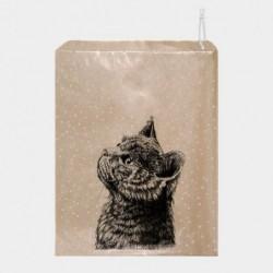 Sac cadeaux en papier Kraft -  East of India - Chat