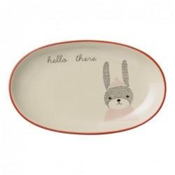 Plat oval - Bloomingville - Rabbit