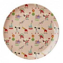 Assiette plate mélamine - Rice - Girl Circus