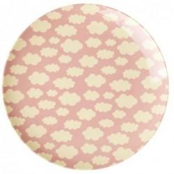 Assiette plate mélamine - Rice - Cloud pink