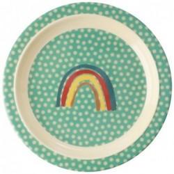 Assiette plate à rebord - Rice - Animal - Rainbow & Stars
