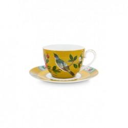 Tasse et sous tasse à thé - Blushing Birds - Jaune - Pip Studio - 28 cl