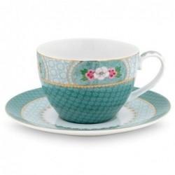 Tasse et sous tasse à thé - Blushing Birds - Bleu - Pip Studio - 28 cl