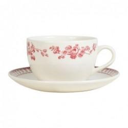 Tasse et soucoupe à thé - Comptoir de Famille - Faustine