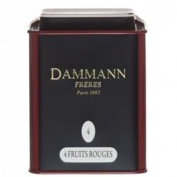 Boite Dammann Frères n°4 quatre fruits rouges - thé noir 100g