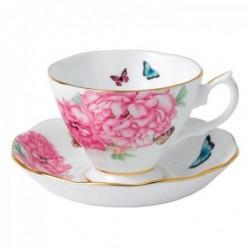 Tasse et sous tasse à thé Friendship - Miranda Kerr - Royal Albert - Blanc- 40 cl