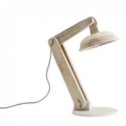 Lampe de table Madam Stoltz - wood - light white
