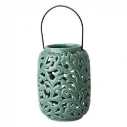 Lanterne en céramique - Rice - Small green