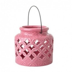 Lanterne en céramique - Rice - Medium Pink