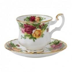 Tasses et sous tasse à café - Old Country Roses - Royal Albert - 15 cl