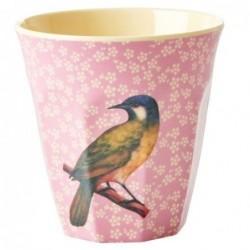 Gobelet Mélamine - Rice - Vintage Bird - Pink