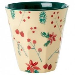 Gobelet Mélamine - Rice - Poinsettia Christmas