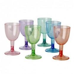 Lot de 6 verres à pied - Rice - Glitter