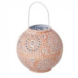 Lanterne en métal Rice - Small round - Corail