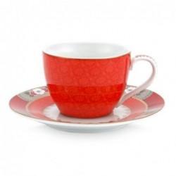 Tasse et sous tasse à expresso - Blushing Birds - Rouge - Pip Studio - 12 cl