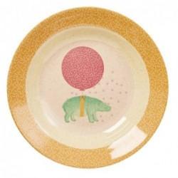 Assiette creuse - Rice - Mélamine et Bambou - Girls animals
