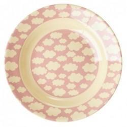 Assiette creuse en Mélamine - Rice - Cloud pink