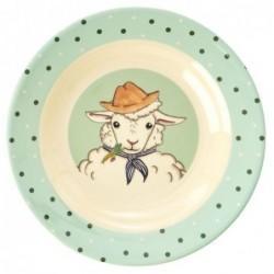 Assiette creuse en Mélamine - Rice - Farm Animals - Green
