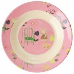 Assiette creuse en Mélamine - Rice - Pink Bunny