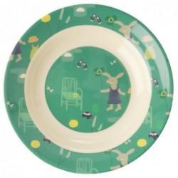 Assiette creuse en Mélamine - Rice - Green Bunny