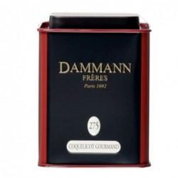 Boite Dammann Frères n°275 Coquelicot Gourmand - the Noir 100g