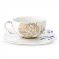 Tasse et sous tasse à thé Royal White - Pip Studio