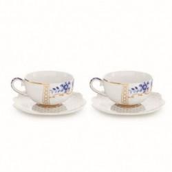 Coffret 2 Tasses et sous-tasses à café - Royal White - Pip Studio - 8cl