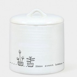Petite Boite en porcelaine - East of India - Home sweet home