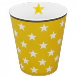 Mug - Krasilnikoff - Jaune - étoiles blanches