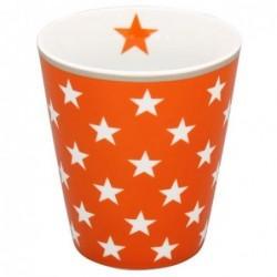 Mug - Krasilnikoff - Orange - étoiles blanches