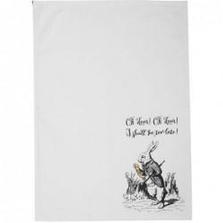 Torchon - Alice in wonderland - Lapin blanc