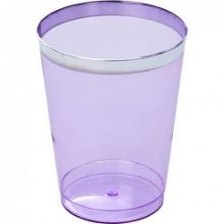 Petit verre à eau - Rice - Plastic - Lavande - Lot de 6