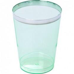 Petit verre à eau - Rice - Plastic  - Vert - Lot de 6