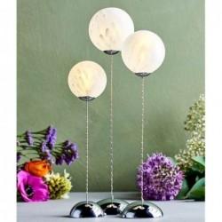 Trio de boules de verre lumineuses - Sirus - Cloudy white