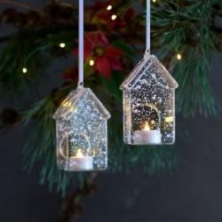 Suspension lumineuse LED - Sirius - 2 Maisons enneigées
