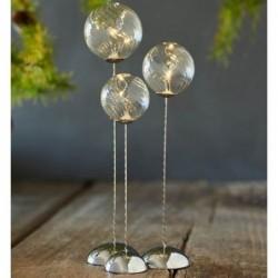 Trio de boules de verre lumineuses - Sirus - Waves