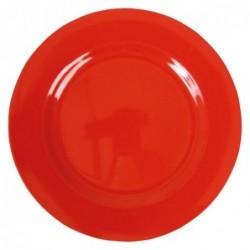 Assiette plate Mélamine - Rice - Rouge - 25 cm